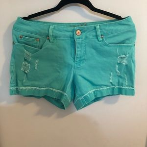 Teal/green shorts